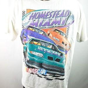 Nascar Homestead Miami Vtg T Shirt Mens Large